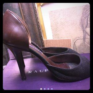Ralph Lauren collection amelda two toned heels